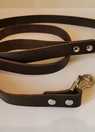 Кожаный поводок для собак крупных пород 1.87 м * 25 мм Jack&Jack.