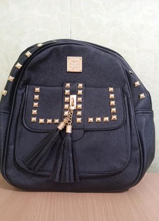 Рюкзак с шипами черный + ПОДАРОК