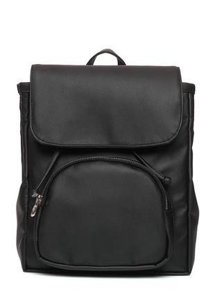Трендовый черный женский рюкзак для прогулок