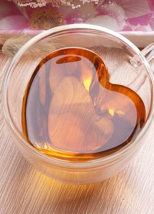 Чашка с двойной стенкой сердце, 240 мл