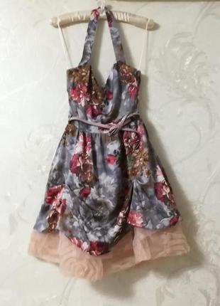Пышное прикольное платье для молодежной вечеринки