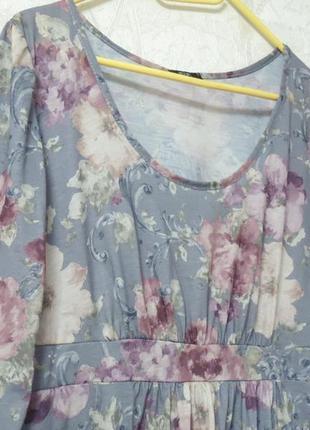 Платье в стиле прованс, цветочный принт