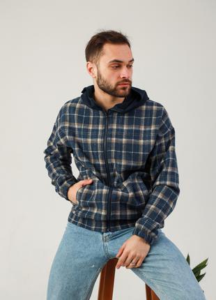 Куртка-рубашка с капюшоном