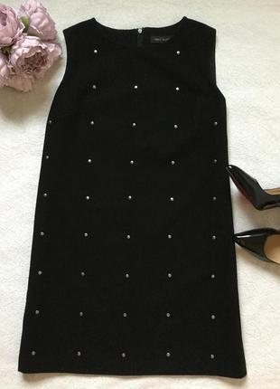 Платье с заклёпками шерсть next размер 16