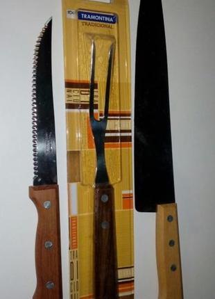Новые ножи и вилка для мяса Трамонтина Бразилия, распродажа ви...