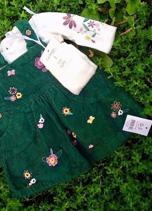 Шикарный комплект платье+кофта+колготки на выписку или праздник