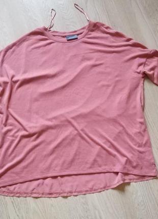 Шикарная блузка yessika пастельно- розового цвета.