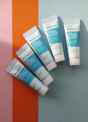 Успокаивающий крем-гель real barrier aqua soothing gel cream 1...