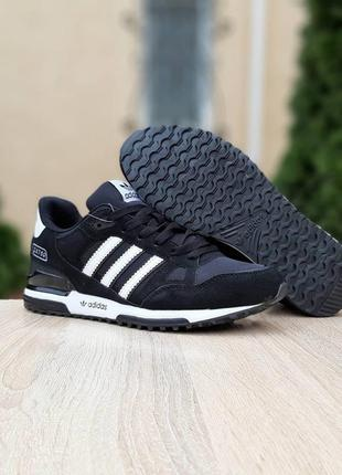 Кроссовки мужские adidas zx 750 черные / кросівки чоловічі адидас