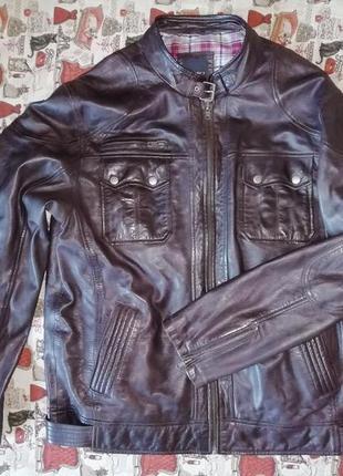 Мужская куртка из мягкой натуральной кожи