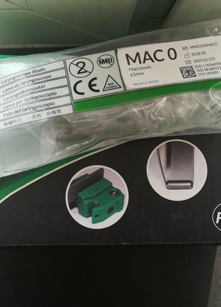 Ларингоскоп клинок многоразовый новый Proact Mac 0