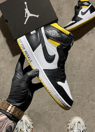 "Nike air jordan 1 retro high ""not for resale"" varsity maize"