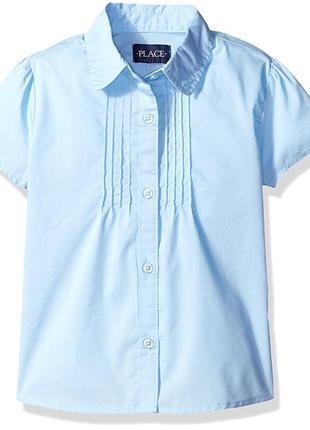 Школьная форма рубашка блуза голубого цвета на 6 лет