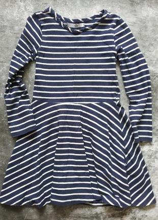 Платье в полоску на 6-7 лет