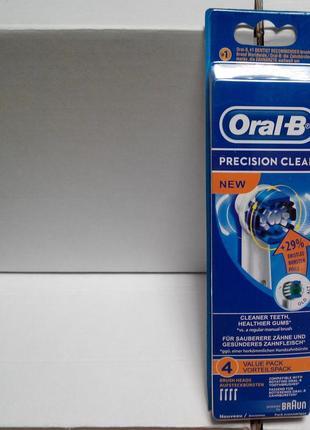 Braun Oral-B Precision Clean 4 шт NEW насадки на Зубные электро щ