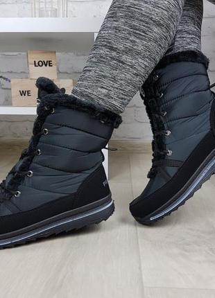 Дутики сапоги зимние на шнуровке очень теплые