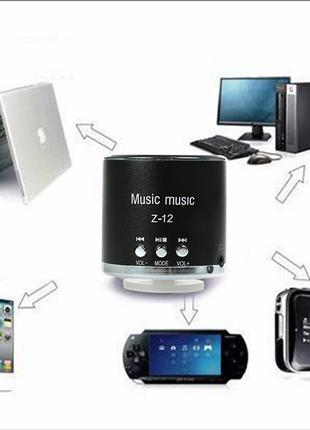 Мини стерео радиоколонка динамик Z-12 TF FM USB AUX