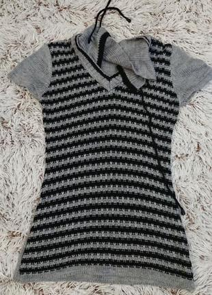 Удлиненный свитер-платье