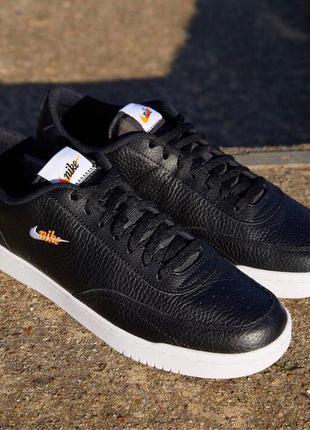 Новые чёрные кожаные кроссовки Nike Court Vintage Premium