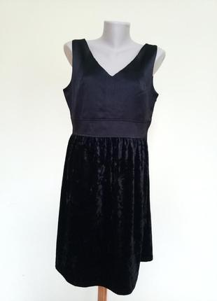Вечернее платье с бархатной юбкой