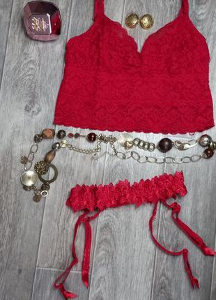 ♥️топ и подвязка для чулок ♥️