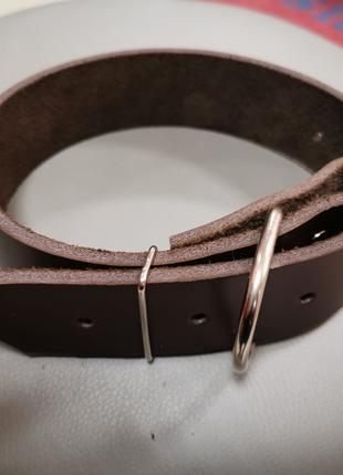 Ошейник кожа 40 мм ширина охват 36-54 см