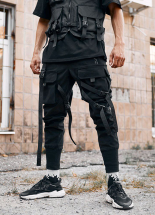Брюки карго мужские Пушка Огонь Gata черные