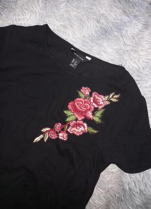 Шикарная шифоновая футболка с вышивкой 🌺
