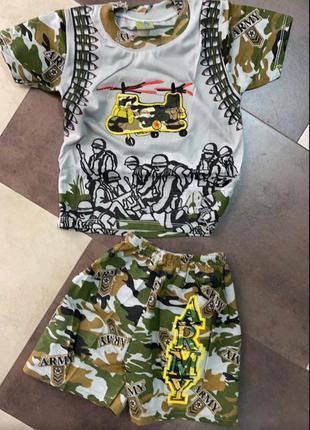 Летний костюм футболка шорты мальчикам.