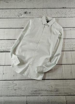 Рубашка белая с мелким принтом kiabi
