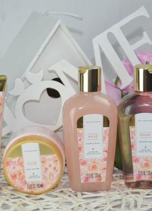 Подарочный набор для женщин с маслом розы spa luxetique rose g...