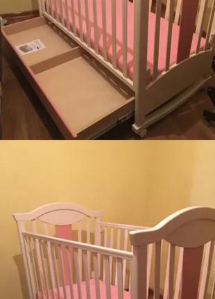 Кроватка детская MyBaby и матрас