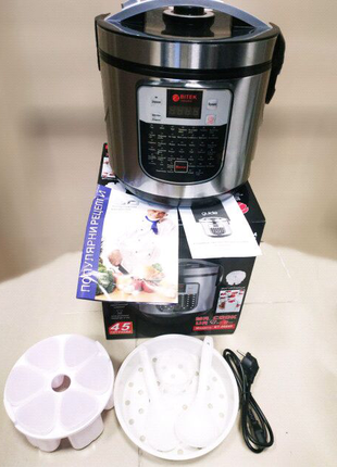 Мультиварка, йогуртница 6,0л 1500 Вт 45 программ BITEK