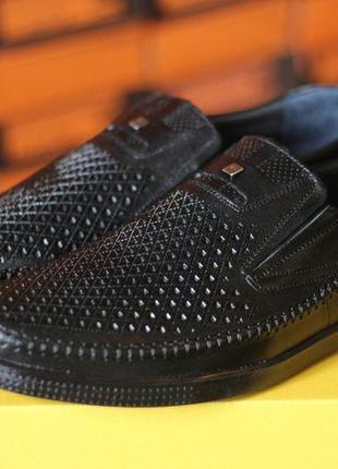 Туфли мужские летние с перфорацией натуральная кожа