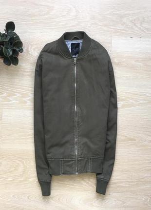 Куртка бомбер хаки new look