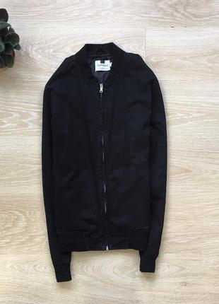 Чёрный бомбер куртка topman
