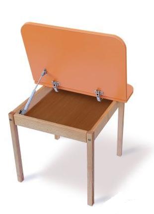 Столик з пеналом дитячий дерев'яний 04-20-ORANG