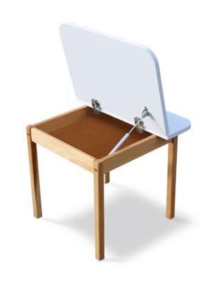Столик з пеналом дитячий дерев'яний 04-20-WHITE