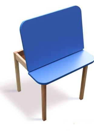 Столик з пеналом дитячий дерев'яний 04-20-BLUE