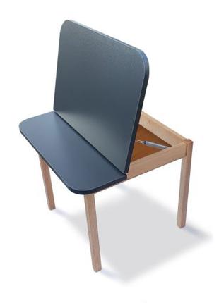 Столик з пеналом дитячий дерев'яний 04-20-ANTRACIT