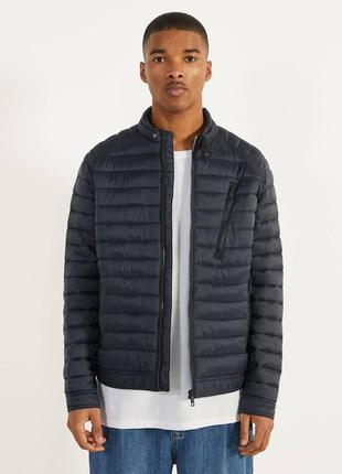 Куртка - легкий пуховик мужская bershka короткая