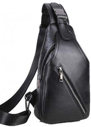 Бананка сумка слинг кожаная стильная мужская через грудь спину...