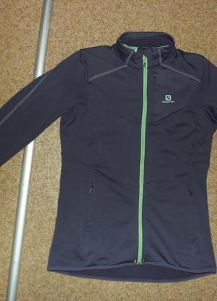 Легкая женская куртка salomon minimomon midlayer fz