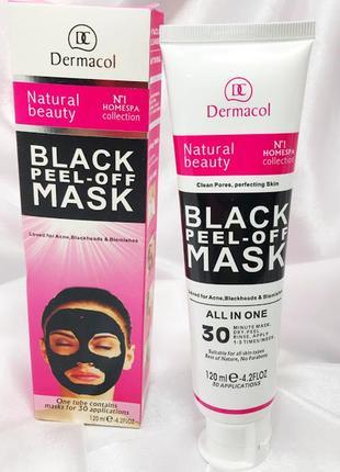 Черная маска для лица black peel-off mask к.10235