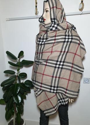 Шерстяной шарф палантин blarney в стиле burberry