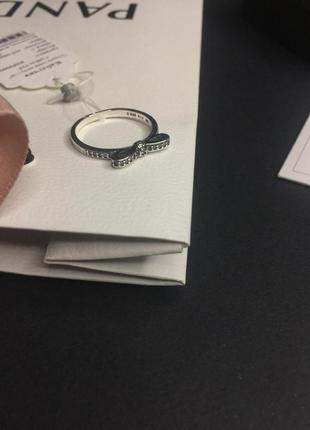 Кольцо пандора бант бантик с камнями серебро проба 925 новое с...