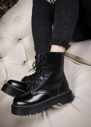 Шикарные осенние кожаные ботинки/ сапоги на платформе dr. mart...