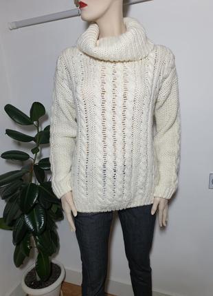 Шерстяной свитер крупная вязка napapijri 25% альпака