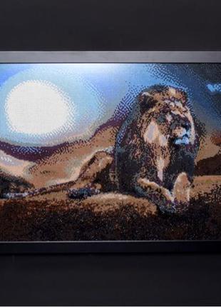 «Лев» алмазная живопись