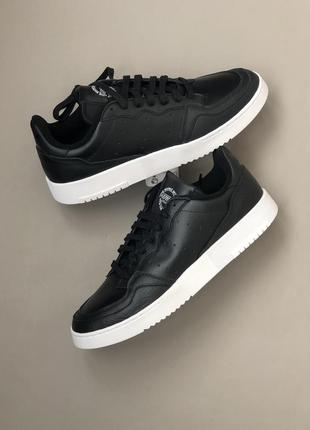 Кроссовки adidas supercourt black оригинал 42.5 43 кожа премиум
